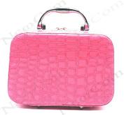 Newcom Mock-croc Travel Cosmetic Handbag/Toiletry Bag