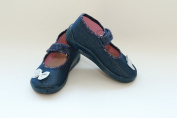 Slippers,Toddlers, Girls,Velcro, Snap, Laced shoes, Multicoloured, Lovely colours,Countured Footbed,Delicately stiffened, Natural material,Anti-skidding, UK size 2, 3, 4, 5, 6, 7 Sparky