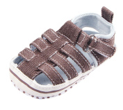 La Vogue Baby Boys Closed Toe Soft Sole Sandals Summer First Walking Shoes Coffee Length 11.5cm