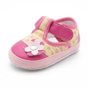 Itaar Baby Girls Shoes Flower Pattern with Soft Sole Velcro