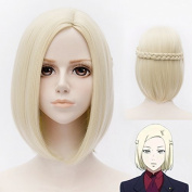 EDAY 30cm Medium Light Blonde Stright Hair Cosplay Wig Tokyo Ghoul Cosplay Costume Wig Wigs