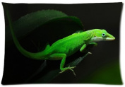 Elegant Comfort Luxurious Silky Soft Reptile gecko lizard Zippered Pillow Case 50cm x 80cm