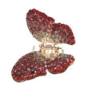 Beautiful Extra Sparkly Ladies Crystal Encrusted Butterfly 5.5cm Hair Claw Clamp Pink