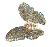 Beautiful Extra Sparkly Ladies Crystal Encrusted Butterfly 5.5cm Hair Claw Clamp Clear