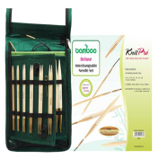 KNITPRO Bamboo Interchangeable Circular Needles Deluxe Set