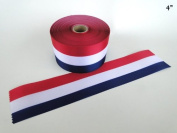 10cm Wide RED/WHITE/BLUE Ceremonial Ribbon for Grand Openings/Re-Openings and Ribbon Cutting Ceremonies - 6 Yards