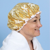 Sparkling Sequined Gold Shower Cap