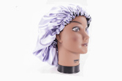 (X-Large, ORCHID) New 60cm Handmade Fully Reversible - High Quality Luxuries Pure Satin Hair Bonnet Safe For All Hair Types - Most Beneficial Hair care Product Available - Royal Sensations Hair Bonnet
