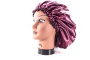 (X-Large, BURGUNDY) New 60cm Handmade Fully Reversible - High Quality Luxuries Pure Satin Hair Bonnet Safe For All Hair Types - Most Beneficial Hair care Product Available - Royal Bonnet