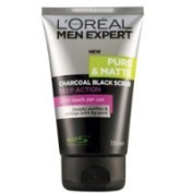 L'oreal Men Expert Pure and Matte Charcoal Black Scrub 100ml.
