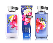 Bath & Body Works Freesia Body Cream, Shower Gel and Body Lotion Gift Set