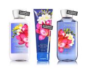 Bath & Body Works Freesia Body Cream, Shower Gel and Body Lotion Gift Set