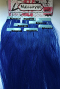 8 Pieces Blue Remy Human Hair Tape in Extensions
