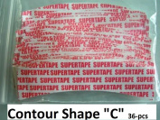 "SuperTape Contour "" C "" shape. 36-pcs= 1-pack double side adhesive"