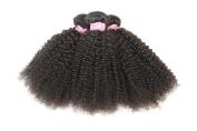 YanT HAIR 8A Grade Unprocessed Malaysian Virgin Hair Bebe Curly 100% Human Hair Weave 3 Bundles 10 12 36cm Natural Black Colour Pack of 3