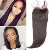 Warma Hair Silk Straight Lace Closure Free Part Bleached Knots 10cm x 10cm Natural Colour Brazilian Virgin Hair Brown Lace