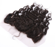 Warma Hair Unprocessed Natural Colour Body Wave Lace Frontal Free Part Bleached Knots Brown Lace 33cm x 10cm Full Lace Frontal