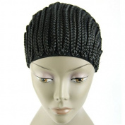 MsFenda 1piece/lot Cornrows cap for easier sew in,braided wig caps crotchet black colour spider braiding wig cap weaving cap with braids