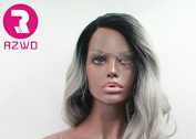 RZWD Ombre Grey Colour Wave Synthetic Lace Front Wig Hs0010