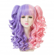 EDENKISS Women Cosplay lolita Clip on Two Ponytails Long Hair Replacement Full Head Wigs