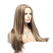 Wigshow® Blonde Mix Brown Wigs Glenda for Women Silk Straight Wig Heat Resistant 60cm