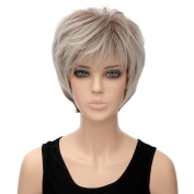 Fashion Ladies Women Short Straight Bob Hair Brown Ombre Cosplay Party Ful Wigs