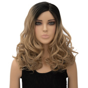 Long Curly Women Ombre Full Wigs Cosplay Costume Party Ladies Synthetic Hair New