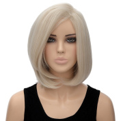 Milky Women Ladies Hair Wig Natural Short Bob Straight Cosplay Party Full Wigs