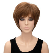 New Short Wig Women Straight Full Hair Synthetic Bang Cosplay Wig Costume Bob Uk