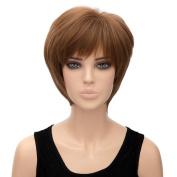 New Short Wig Women Straight Full Hair Synthetic Bang Cosplay Wig Costume Bob Uk