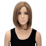 Women Ladies Bob Short Straight Party Wig Highlight Cosplay Full Costume Wigs