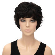 Women Sexy Short Bob Black Straight Full Wigs Heat Resistant Cosplay Party Anime