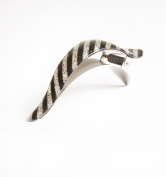 Ficcare Maximas Hair Clip French Acetate Glittery Stripe Silver - size Small