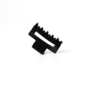 Ficcare Small Open Rectangle Jaw Clip Black