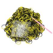 600pcs Loom Rubber Bands + Hook + 24 Clips Bracelet Making Kit Crafts for Kids