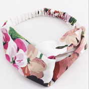 Women's Geranium Turban Beautiful Headband Soft Hair Band Head Wrap