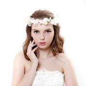 Chiffon Fresh dried flowers Flower Wreath Crown Halo for Wedding Festivals