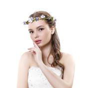 Flower Headband Crown Festival Wedding Hair Wreath BOHO Floral Headband