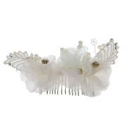 Phenovo Women Bridal Wedding Jewellery Crystal Rhinestone Beautiful Hair Comb Pin