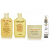 Sponsei Mixed Chicks Shampoo, Deep Conditioner, Leave-In Conditioner And Hair Silk Set