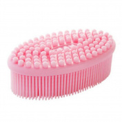 Elastic Massage Hair Brush Body Brush Hair Combs Shampoo Scalp Scrubber - Pink