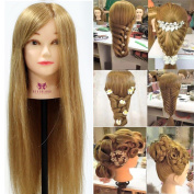 Neverland Beauty Professional 70cm Super Long 70% Real Hair Training Head With Free Clamp For College and Professional Use