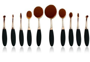 Aoohe Shape Oval Tooth Brush Shape Makeup Kabuki Powder Brush Set