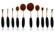 Aoohe Shape Oval Tooth Brush Shape Makeup Kabuki Powder Brush Set