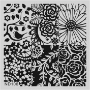 Nicole Diary Nail Art Stamp Template Image Stamping Plate ND-106