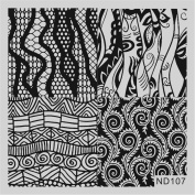 Nicole Diary Nail Art Stamp Template Image Stamping Plate ND-107