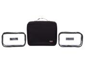 Men's or Women's Travel Gear Hanging Toiletry Organiser Bag Packs Flat & Holds Tonnes