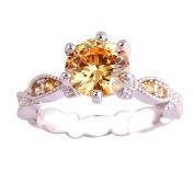 Empsoul 925 Sterling Silver Natural Fancy Filled 2ct Morganite Topaz Wedding Bridal Ring