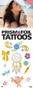 Prism Foil Temporary Tattoos, ten 8.9cm by 6.4cm sheets, beautiful foil tattoos