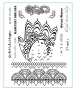Henna Style Fashion Water-transfer Affirmations Temporary Tattoos